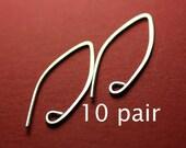 SEWA10- Sterling Silver Almond Earwires 10 pair
