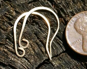 BEWR12 -  Brass Earwires 12pair - Handmade