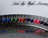 ROYALE PURPLE Polymer Knitting Earrings
