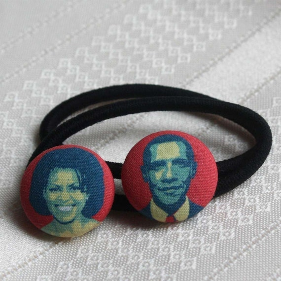 Michelle and Barack Pony Tail Holders