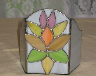 Stained Glass Art Deco Candle Screen