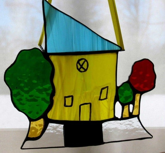 Stained Glass Your Child's Design Sun Catcher - Custom Order