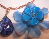 Pretty As A Pansy Copper and Crystal Necklace
