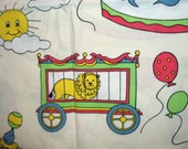 Vintage CIRCUS theme childrens fabric