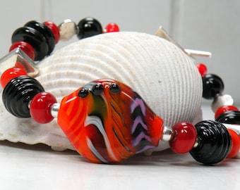 50 Percent Off Sale  HOT HOT HOT Handmade Lampwork Bead Bracelet