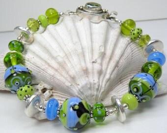GENTLE Handmade Lampwork Bead Bracelet