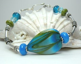 SALE  DEER LAKE Handmade Lampwork Bracelet