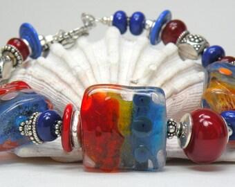 GASP Handmade Lampwork Bead Bracelet