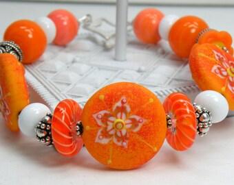 SUNKISSED Handmade Lampwork Bead Bracelet