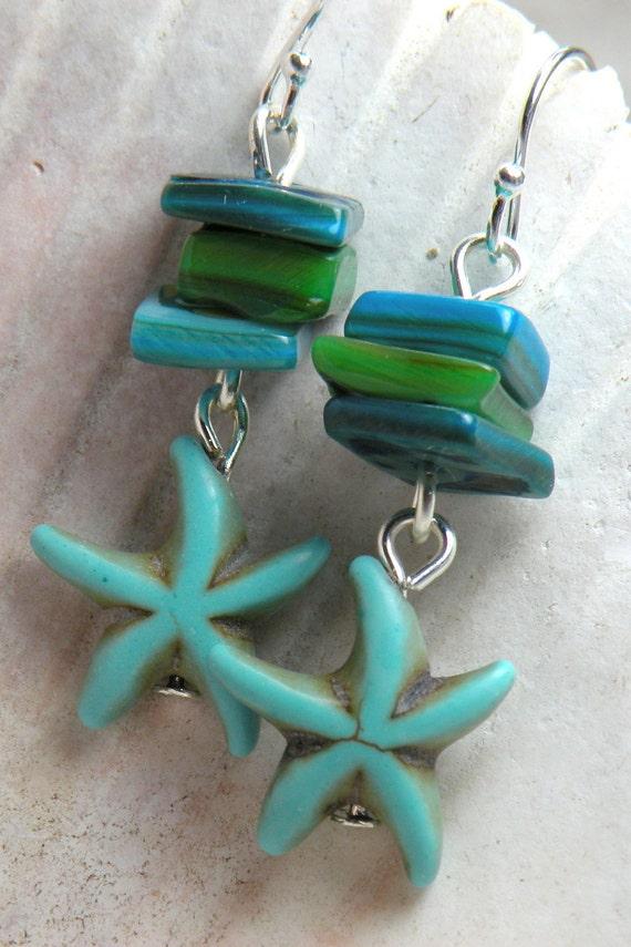 TRANQUIL LAGOON Handmade Dangle Earrings
