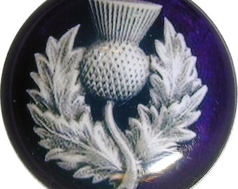 Thistle Royal Purple  Crystal Dome Clothing Button LG Size