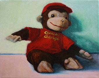 Curious George Stuffed Toy print nursery art