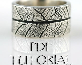 PDF Tutorial--Learn How to Make Leaf Textured Rings
