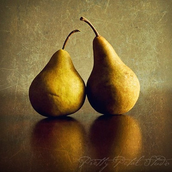 Kitchen Decor Fruit Print Pears Poster By Moltenprints On Etsy
