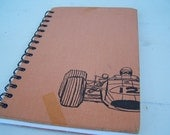 Racecar Journal / Recycled Blank Journal - Race Car and Driver - Blank Book