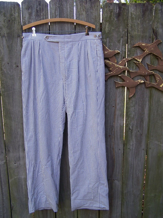 Vintage Men's Seersucker Pants