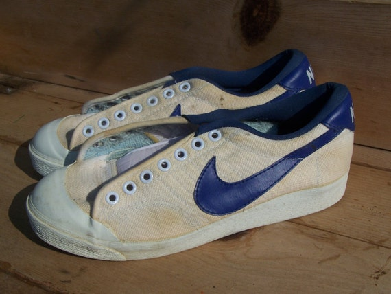 vintage nike all court canvas low top tennis by thehomegnome