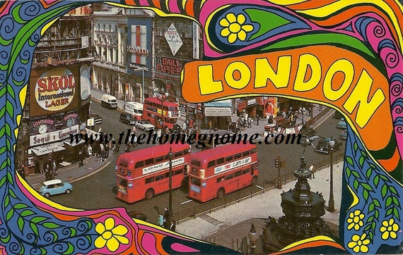 Vintage London Postcard / Groovy London / London 1970s
