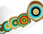 Tree Ring paintings a sophisticated mix of raw and rugged with modern and coloful