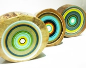 TREE RINGS 3 original paintings    by Tracy Melton                          -603-