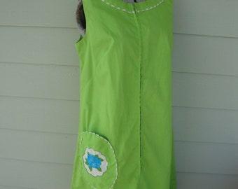 Vintage Lime Day Dress