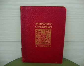 Antique 1898 The Rubaiyat of Omar Khayyam Persian Prose Astromomer Poet Edward Fitzgerald Translation Coates