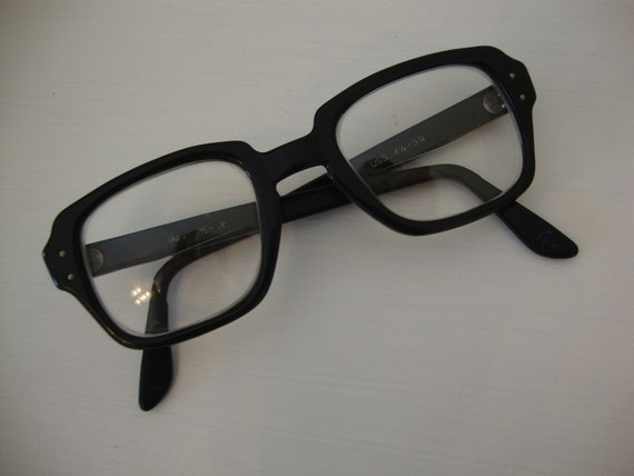 Vintage Black USS Army Issue Glasses 1960s