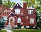 12x16 Custom Painting of Your House on Canvas Hand Painted by Sharon Lamb