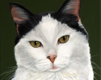 12x12 Custom Pet Portrait Pet Painting your Dog Cat Horse Art by Sharon Lamb