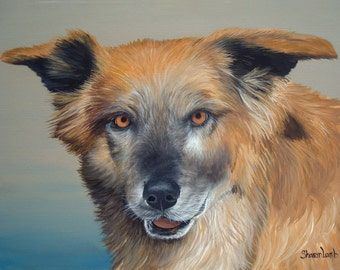 12x16 Custom Commissioned Pet Portrait Painting Two Pets Gift Certificates Available Life Like Detail