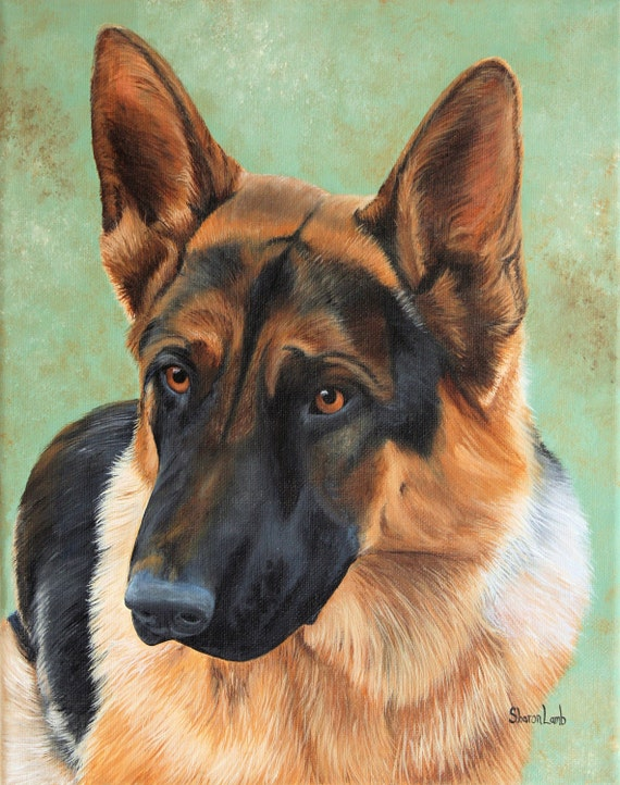 9 x 12 Life Like Custom Pet Portrait Pet Painting of your pet Cat dog or Horse Any Animal Welcome