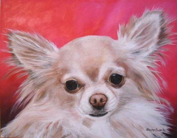 Hand Painted 8x10 Custom Pet Portrait Painting any Animal Dog Cat or Horse