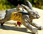 Alice in Wonderland Rabbit necklace steampunk mary vogel lozinak srajd