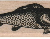 FISH FACE bird face fish  stamp Steampunk Victorian  wood Mounted   rubber stamp    stamp number 11223