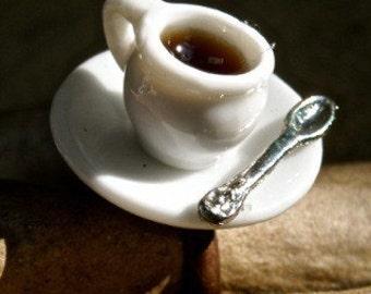 Novelty Ring Cup and Saucer tea cup coffee mug adjustable ring  Tateam  srajd