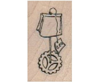tea bag with wheels tea party  Steampunk Rubber Stamp wood mounted designed by Mary Vogel Lozinak no 185456