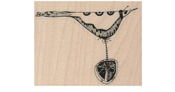 Steampunk bird Stamp whimsical  Rubber Stamp by Mary Vogel Lozinak  18562