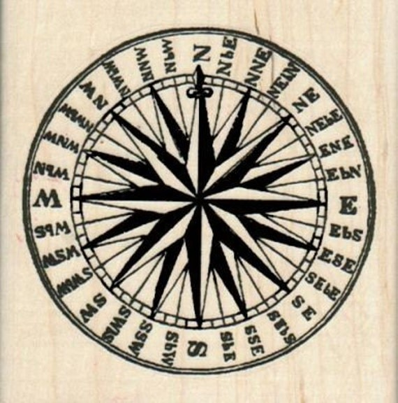 Steampunk circle direction compass  rubber stamps place cards gifts    6219