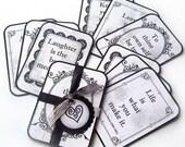WORDS OF WISDOM Flashcards - Set of Nine
