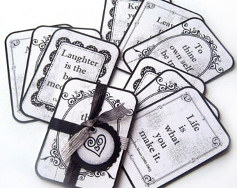WORDS OF WISDOM Flashcards - Set of Nine