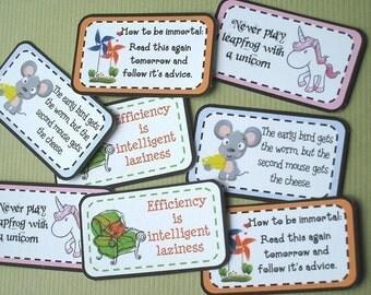 Pocket Perks - Funny Bone Perks -  Mini Memos to Spread Good Cheer