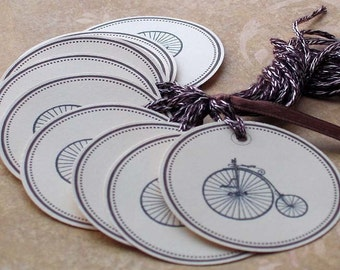 Big Wheels Keep On Turnin Circle Tags - Set of 10