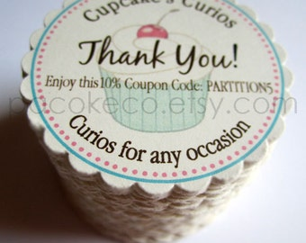100 Circle Business Cards, Hang Tags, Etsy Shop Tags, Shower Favor Tags, Mommy Calling Cards