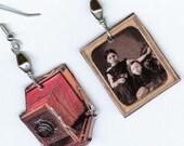 Camera Earrings Vintage Bellows cameras Daguerreotype