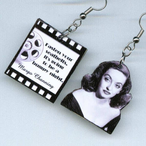 All about Eve Earrings Film Reel QUOTE Bette Davis