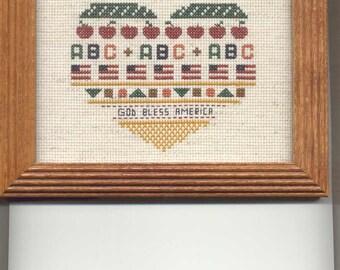 Patriotic Heart Cross-Stitch