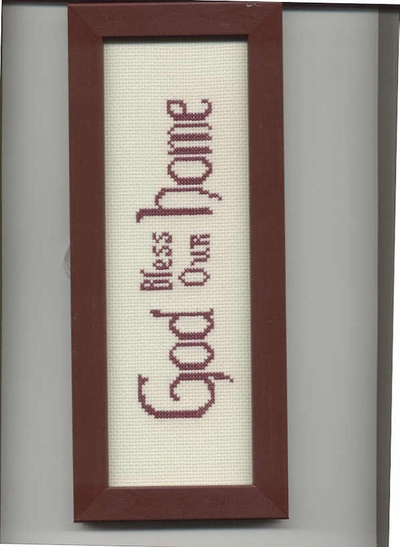 Small God Bless Our Home cross-stitch