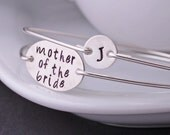 Mother of the Bride Jewelry Gift, Sterling Silver Bangle Bracelets, Wedding Jewelry
