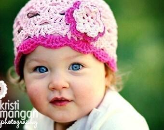 Baby Girl Hat, Baby Girl Beanie, Baby Newborn Hat, Crochet Baby Hat, Newborn Prop, Baby Hat, Pink, Newborn Beanie, Baby Girl