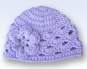 Toddler Hat, Newborn Baby Hat, Crochet Newborn Hat, Baby Girl Beanie, Photo Prop, Baby Girl, Lavender, Baby Hat, Baby Newborn Hat